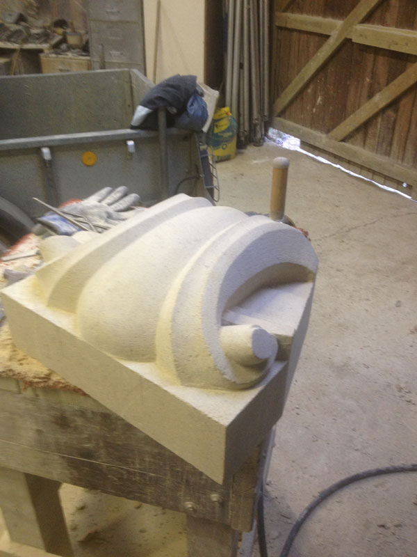 stone work in the workshop
